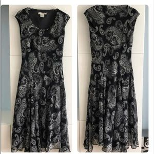 Evan Picone Fit and Flare Black Dress Sz 12 New